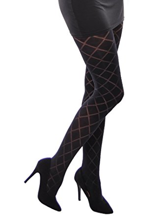 megan beautiful semi opaque patterned tights 40 denier by adrian . uxookhi