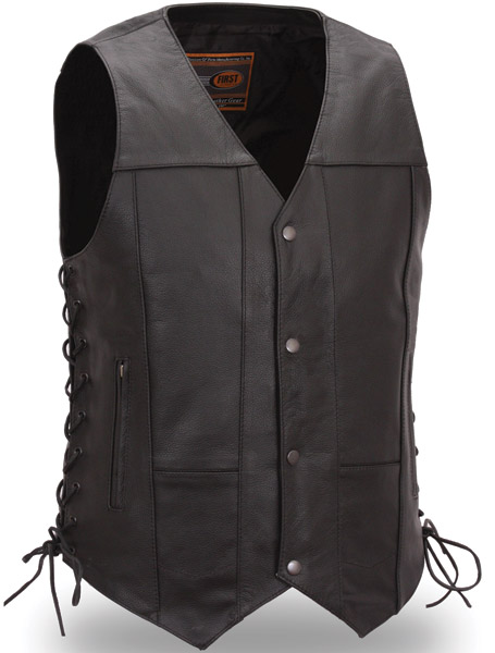 menu0027s 10 pocket leather vest cibdmqa