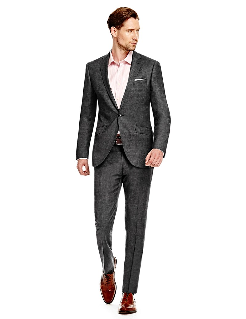 menu0027s charcoal twill extra slim fit suit - super 120s wool oagmfij