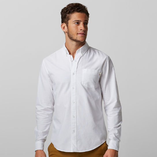 menu0027s long sleeve pleasant river oxford shirt xorivgq