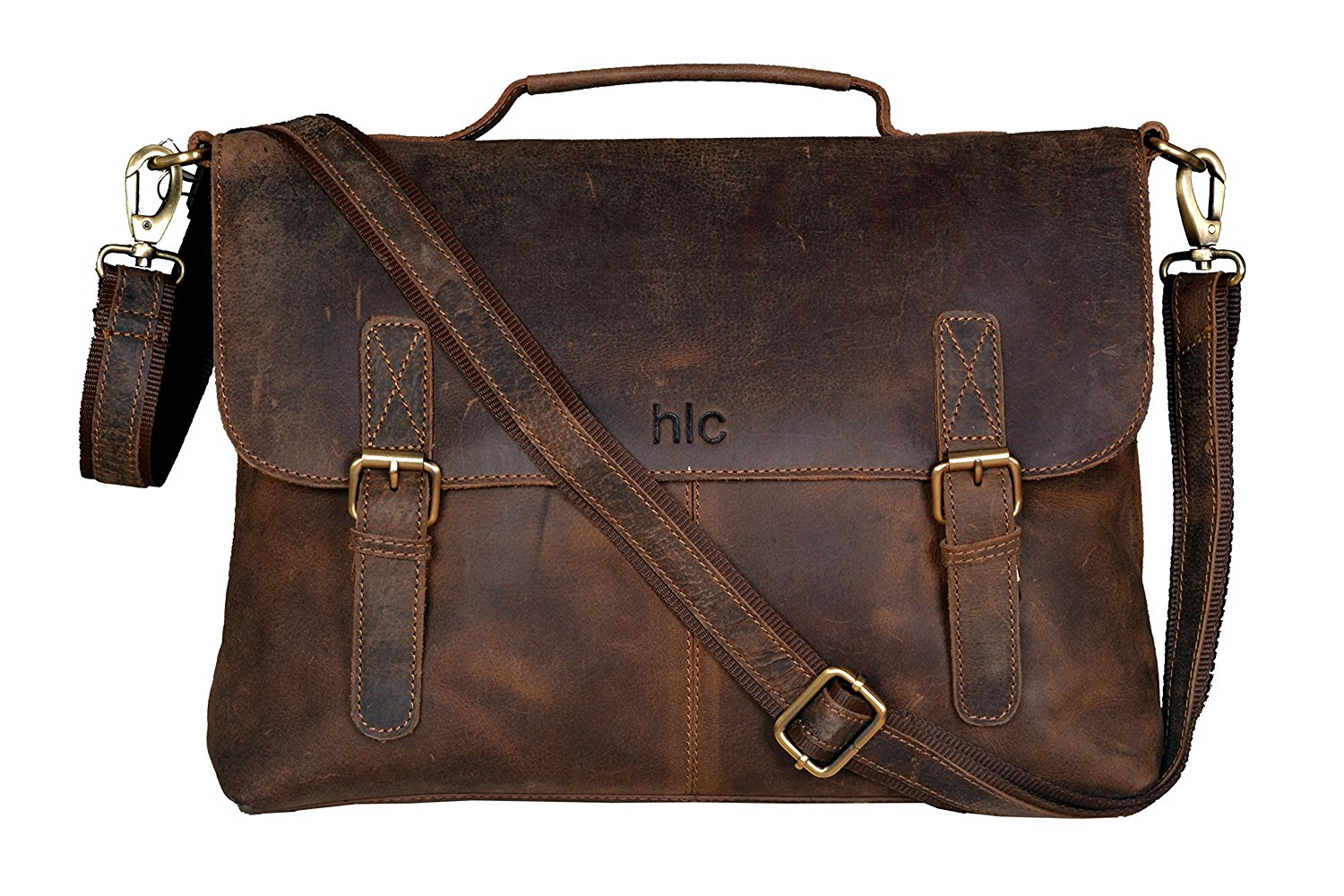 mens bag amazon.com: handolederco vintage buffalo leather messenger satchel laptop  briefcase menu0027s bag crazy shxwjev