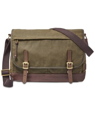 mens bag fossil menu0027s waxed canvas defender messenger bag pbovhus
