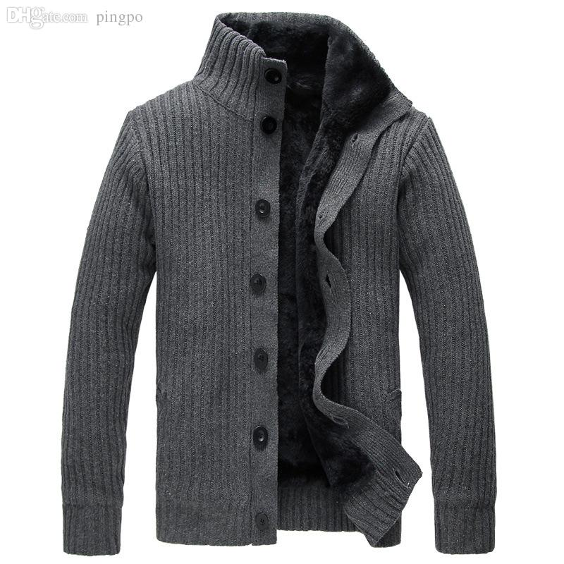 mens cardigan sweaters 2018 wholesale men cardigan sweater button mens cotton turtleneck sweater  2015 winter htgcecu