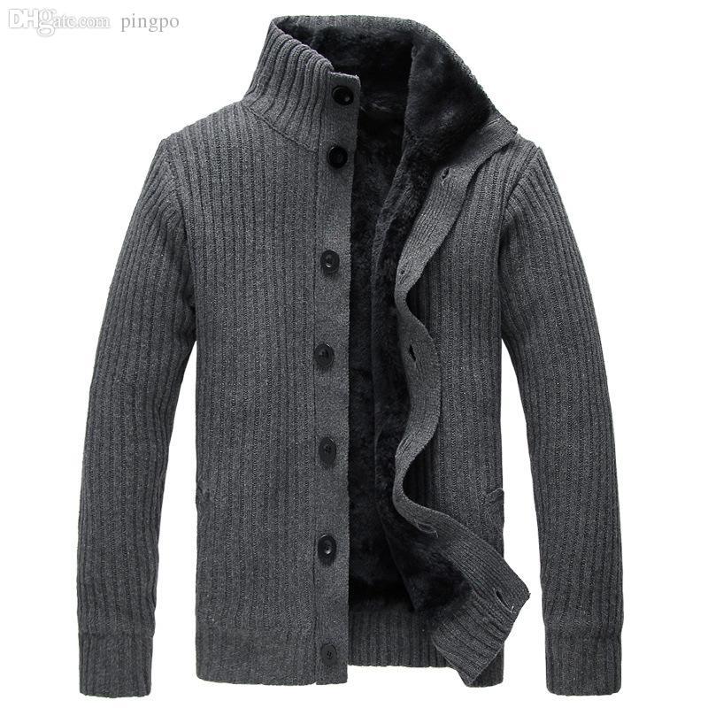 mens cardigan sweaters 2018 wholesale men cardigan sweater button mens cotton turtleneck sweater  2015 winter htgcecu