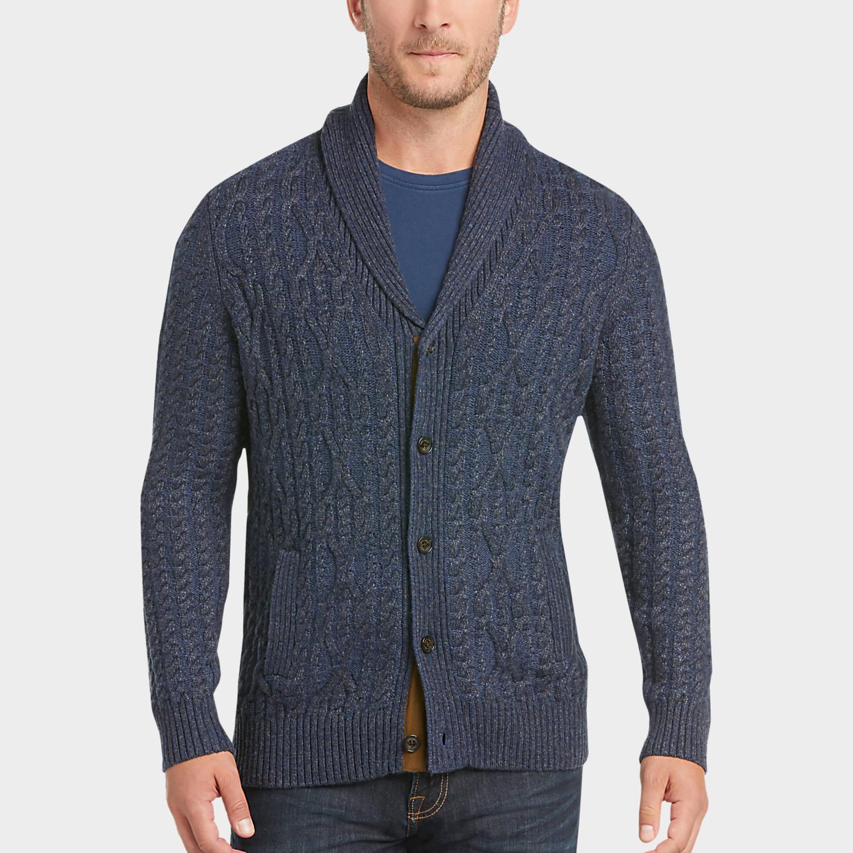 mens cardigan sweaters mens cardigans, sweaters - joseph abboud indigo cable-knit cardigan sweater  - menu0027s andvaac