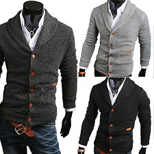 mens cardigan sweaters mens slim fit v-neck knitwear pullover cardigan sweater jacket coat tops  new xbirzra
