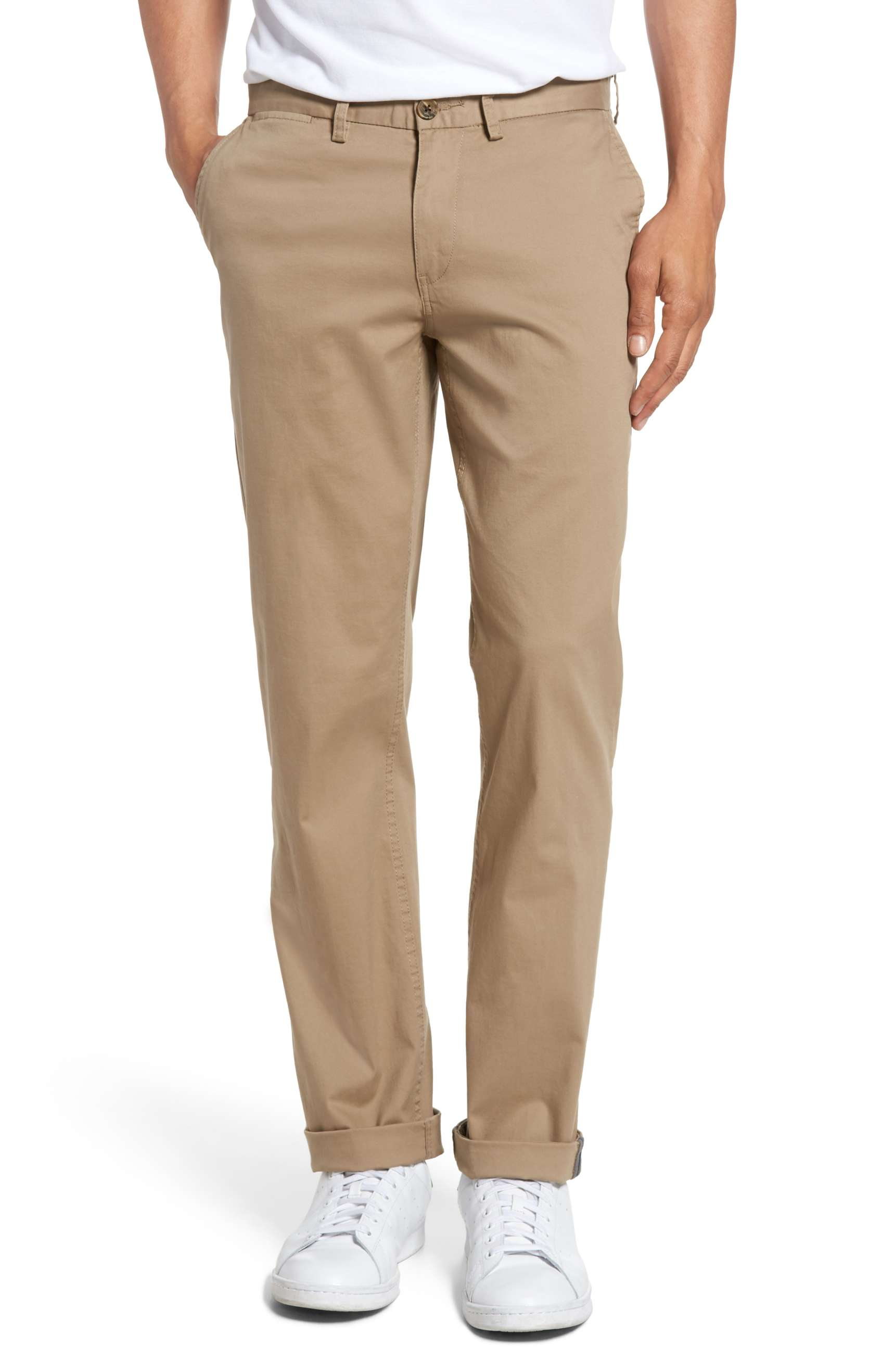 mens chinos ben sherman light stone khaki chinos - buy it here for $79 gozfylq