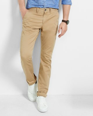 mens chinos slim fit stretch khaki chino | express adkjupz