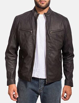 mens ionic black leather jacket unrysvq
