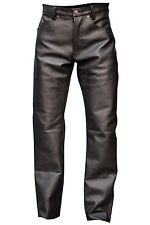 mens leather pants menu0027s black cowhide leather button fly jeans style five pockets pant brand tjgapol