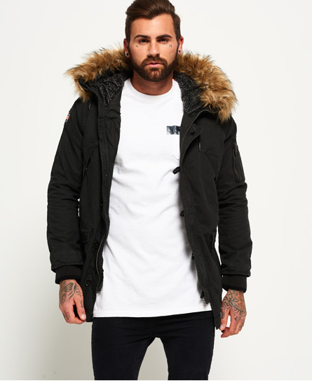 mens parka superdry rookie heavy weather parka jacket