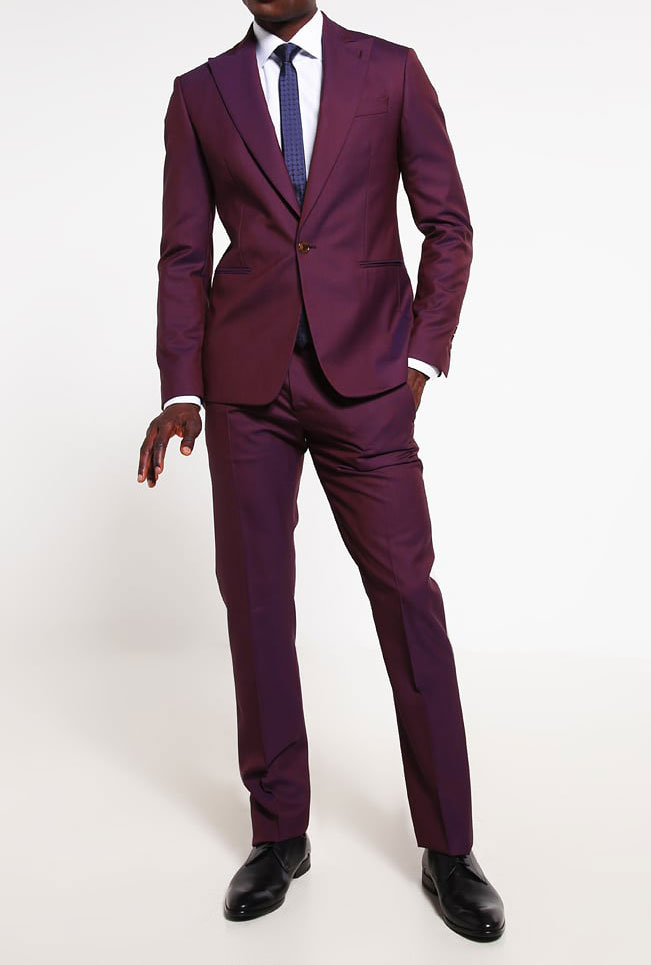 Glam Up Your Attire With Purple Suit - Thefashiontamer.com