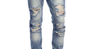 mens ripped jeans crysp denim david ripped panel stone washed jeans ... hitiagr