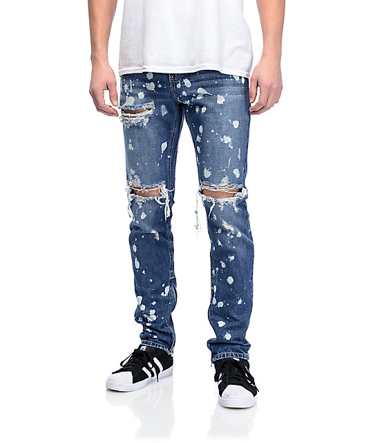mens ripped jeans crysp denim pacific bleached ripped jeans ... sutdxhn
