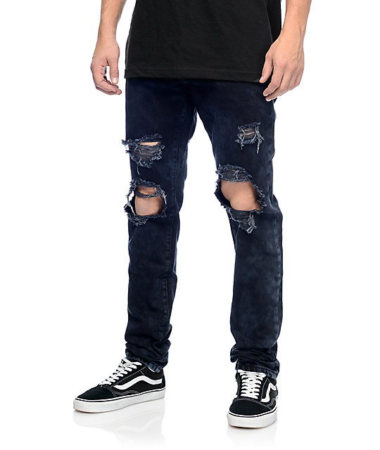 mens ripped jeans crysp denim sanders black ripped jeans habohrz