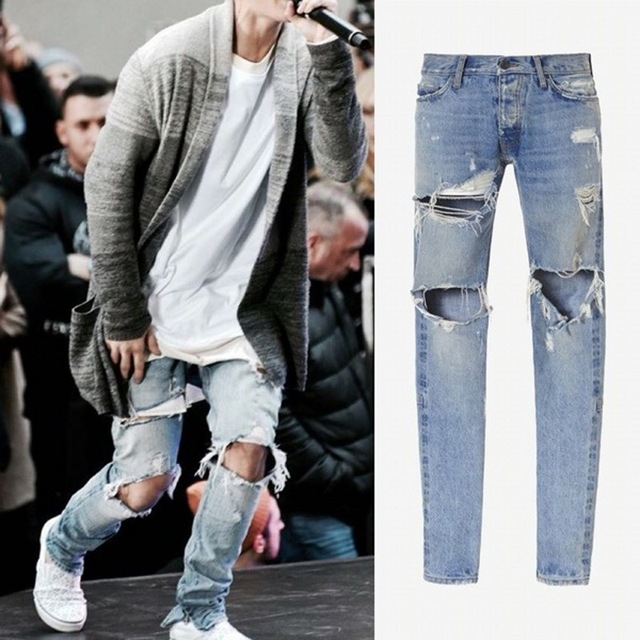 mens ripped jeans kanye west fear of god boots jeans mens justin bieber ripped jeans for lrgkyqg