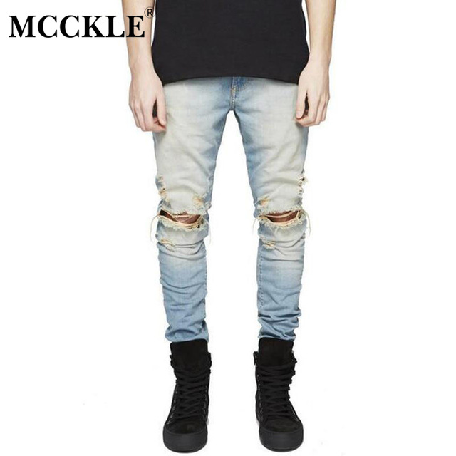 mens ripped jeans mcckle famous brand designer slim fit ripped jeans men hi-street mens  distressed qwswies