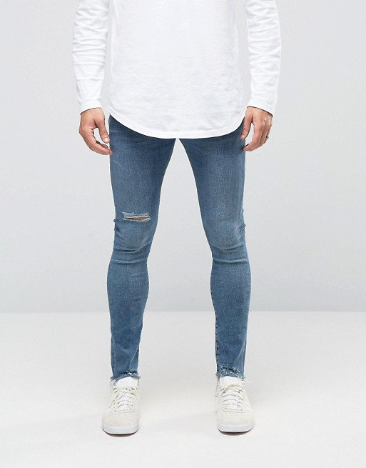 mens skinny jeans river-island-super-skinny-jeans-mid-blue-men zpxenlz