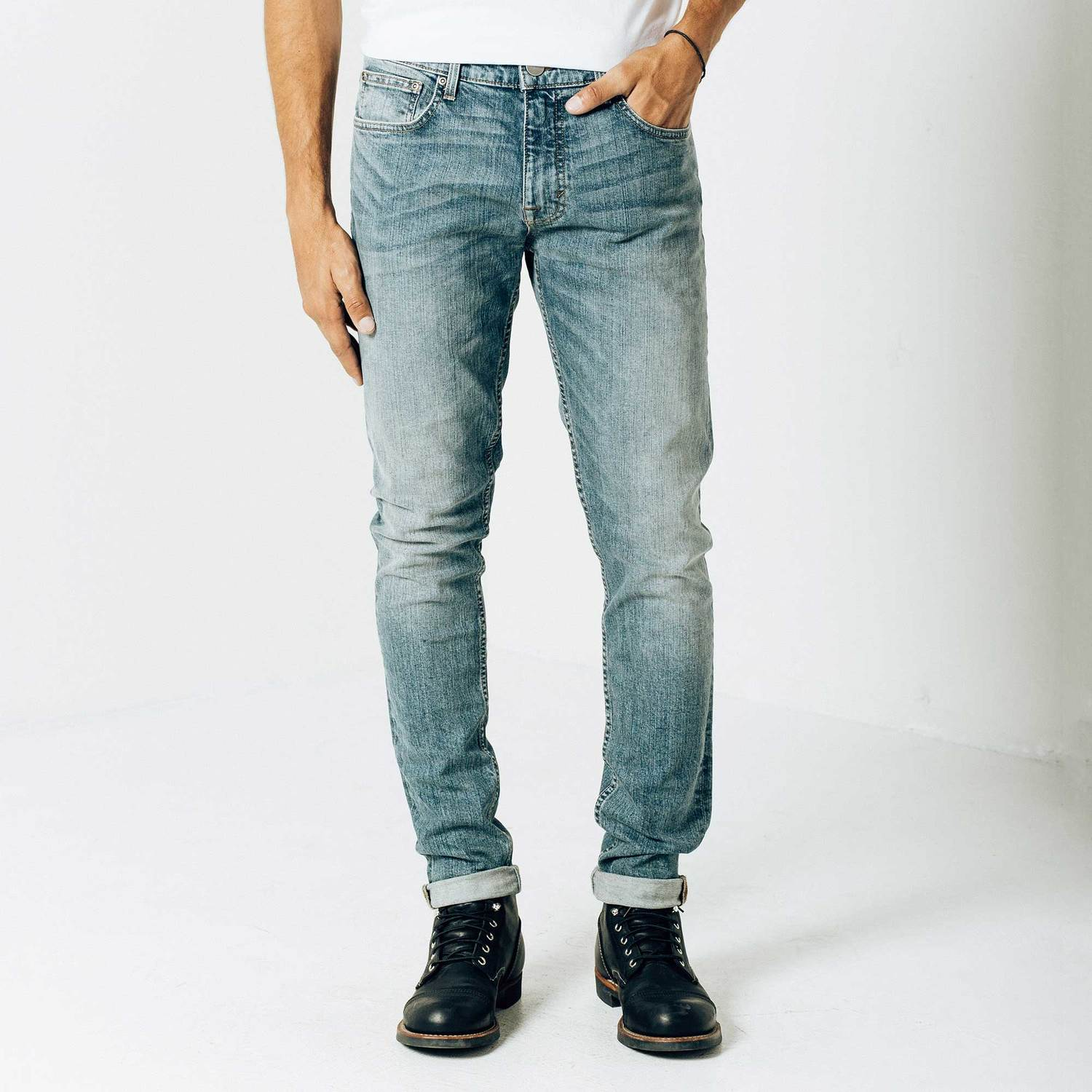 mens skinny jeans skinny-slim jeans in light wash hrbffvc