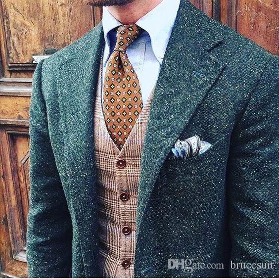 mens tweed jacket 2017 mens green donegal tweed suit custom made brown mens tweed suit gsynijd