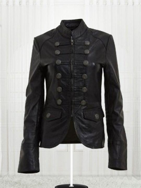 military style jacket womens military black leather jackets mrdtvkj