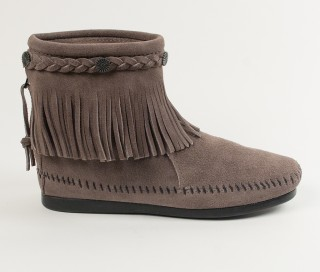 moccasin boots high top back zip boot njyemsm