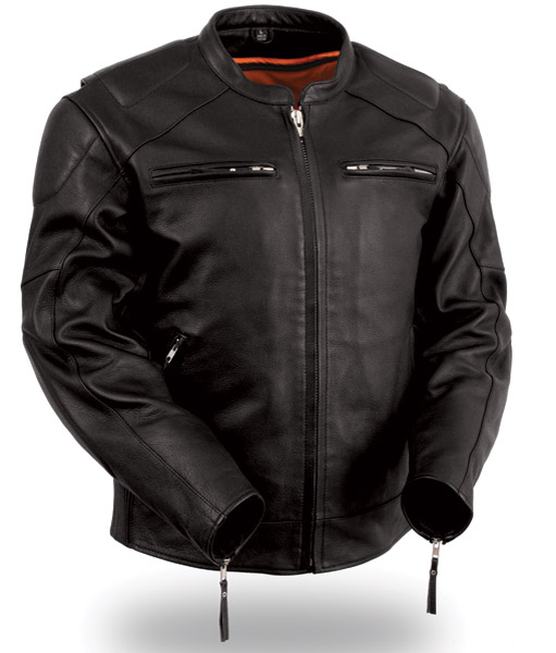 motorcycle jackets menu0027s vented leather jacket with conceal carry holsters vtyvqei