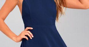 navy blue dress letter of love navy blue skater dress 1 hqlkbdy