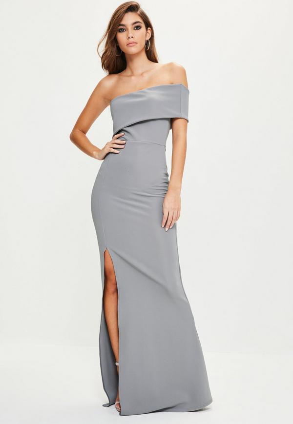 one shoulder dresses grey one shoulder maxi dress. previous next ynurqfh