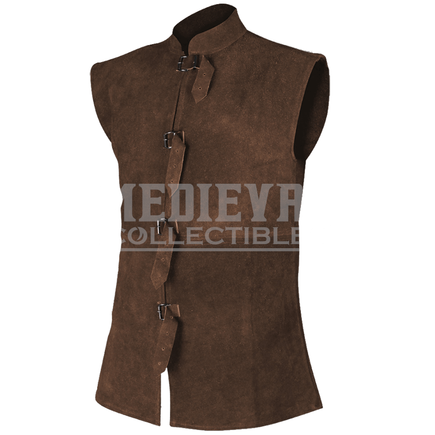 orthello suede leather vest - my100112 by medieval