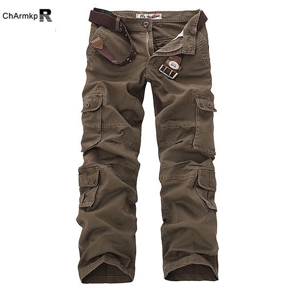 outdooors loose large size cotton multi pockets cargo pants jhxoocp