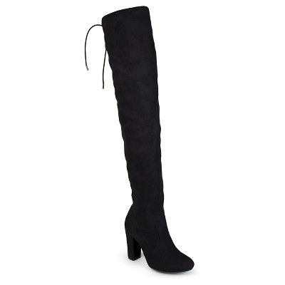 over knee boots womenu0027s journee collection maya faux suede over the knee boots ovzalhx