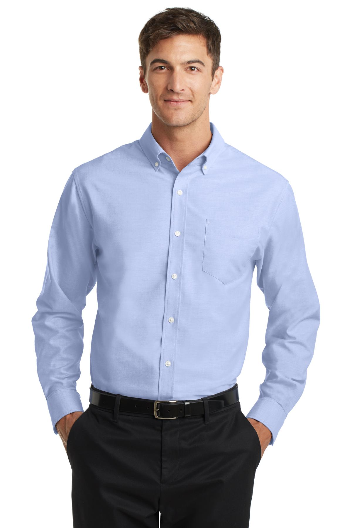 oxford shirt s658-oxford blue mafjfok