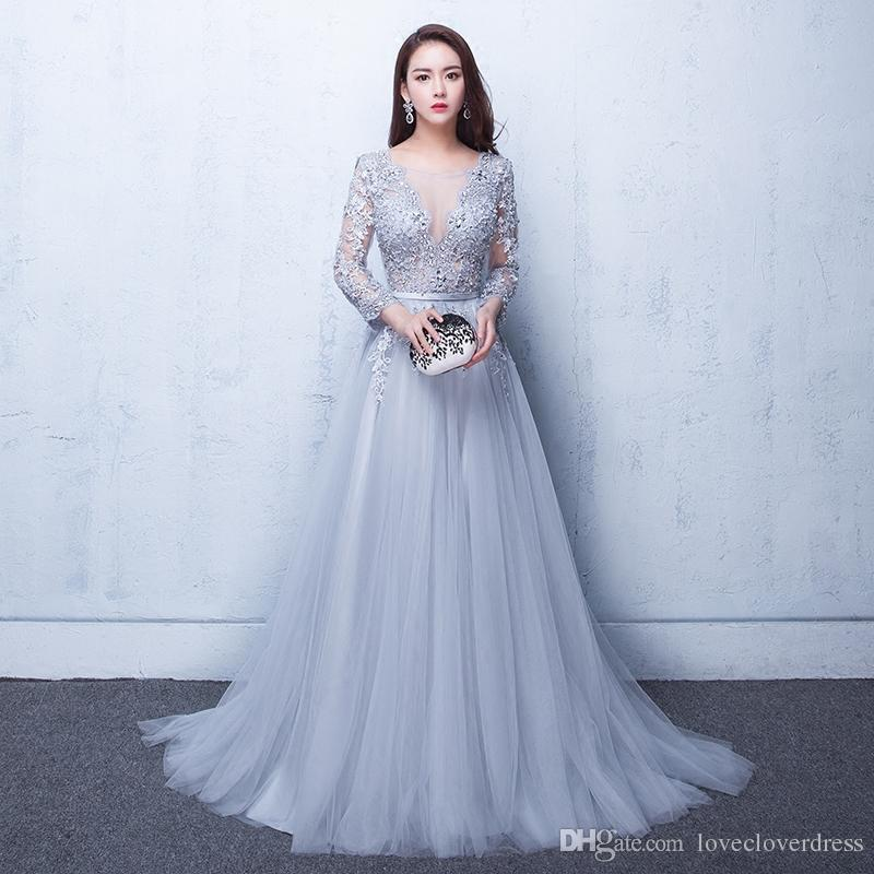 party gowns sexy illusion evening gowns lace formal 2017 real photos prom dresses with xcsqmgy