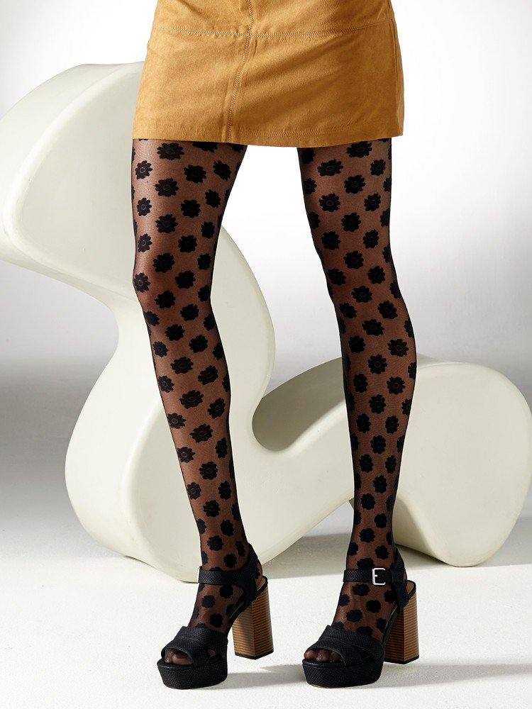 patterned tights from gipsy decorated with daisy flowers all over erjqroj