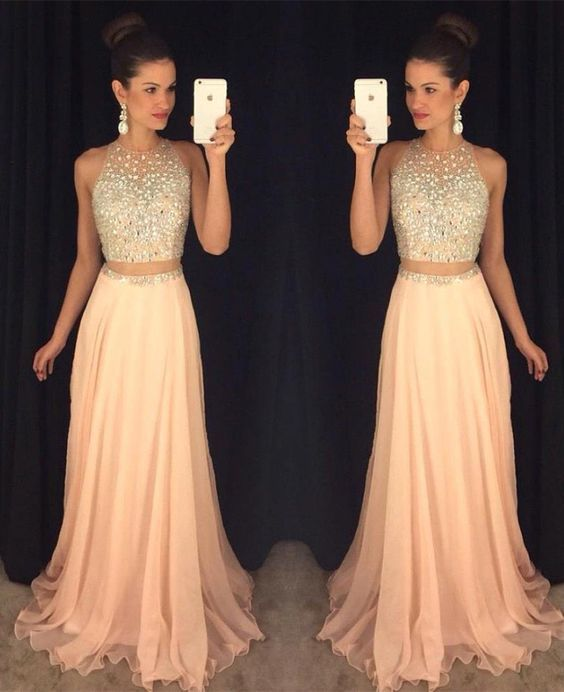 peach dresses 2016 prom dress, sexy peach prom dress, beading xtudmqb