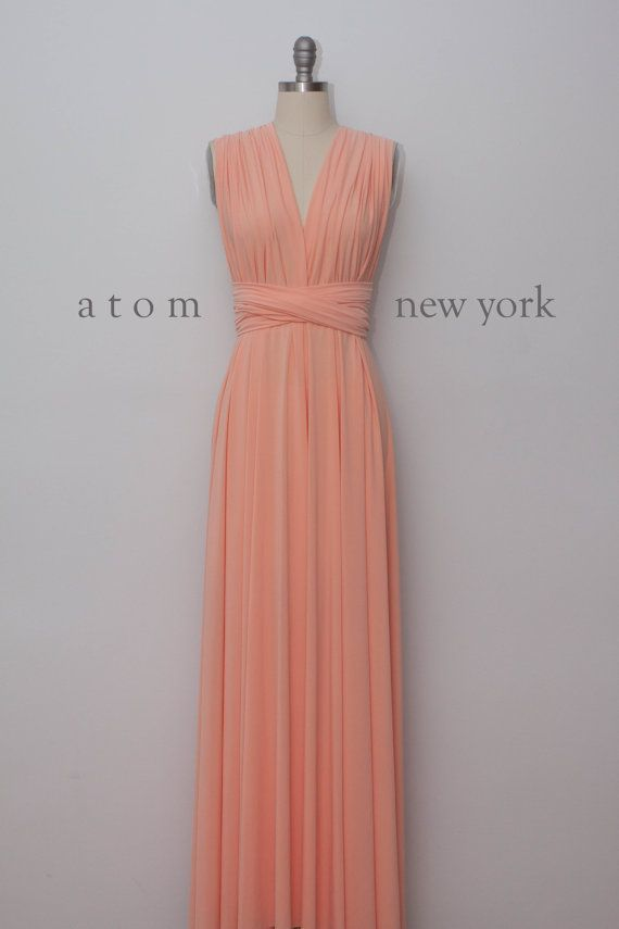 peach dresses peach floor length ball gown long maxi infinity dress convertible formal  multiway xqatpym
