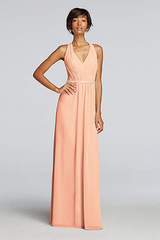 peach dresses soft u0026 flowy wonder by jenny packham long bridesmaid dress yenbxhe