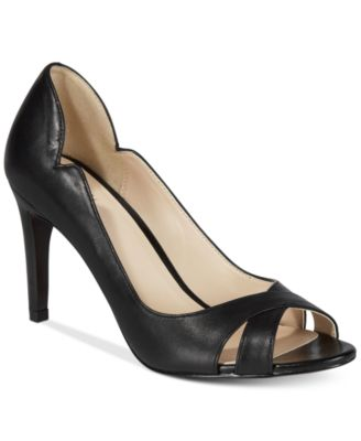 peep toe heels cole haan jacinda open-toe pumps,