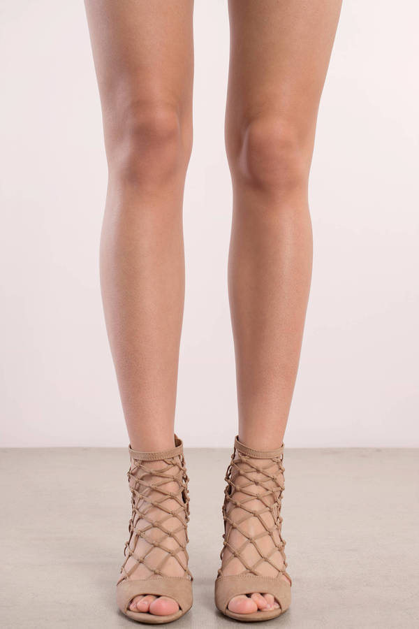 peep toe heels ... report footwear report footwear mixie nude caged peep toe heel ... mcunzuf