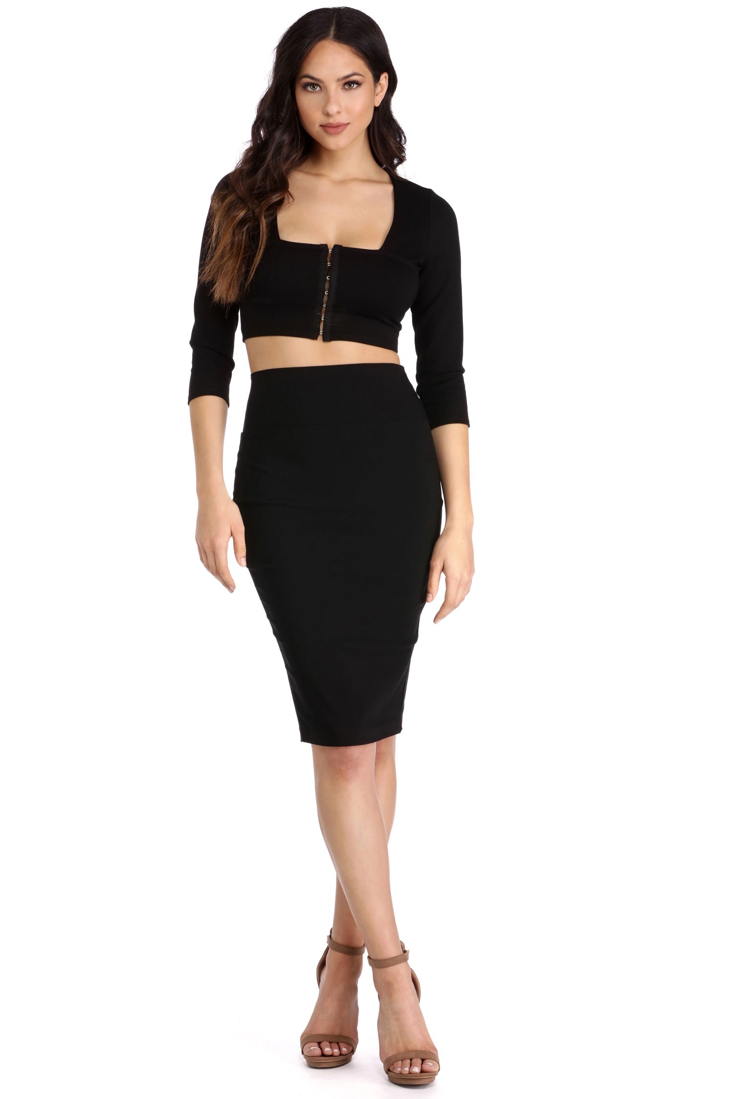 pencil skirts final sale- black high waisted pencil skirt rcaqqyn