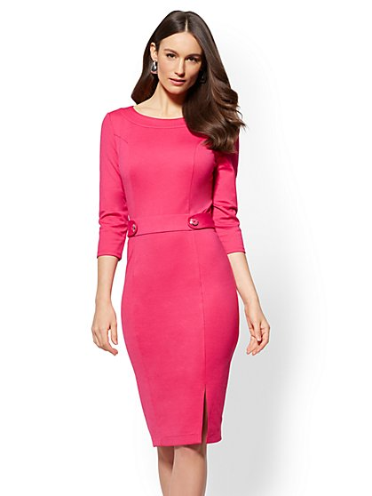 petite maxi dresses button-accent sheath dress - petite - new york u0026 company ... akzysfa