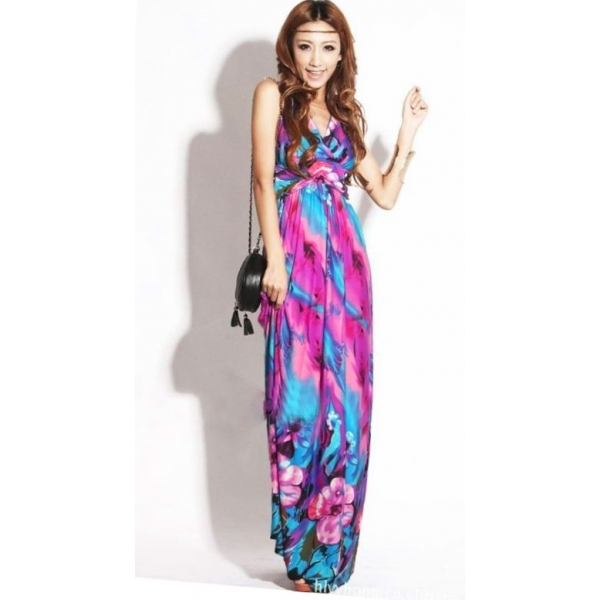 petite maxi dresses colorful v-neck petite maxi dress fqcwltd