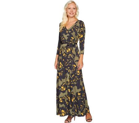 petite maxi dresses du jour petite printed faux wrap knit maxi dress wofipvl