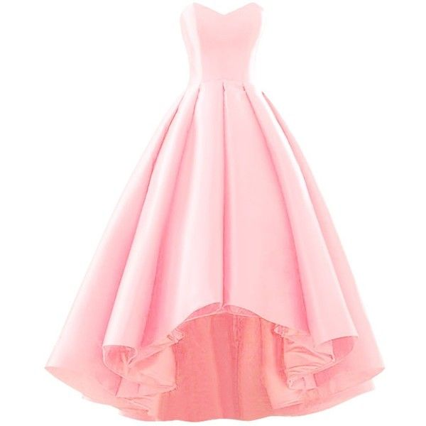 pink dress fluorodine women sweetheart short front long back a line high low prom dress ievteca
