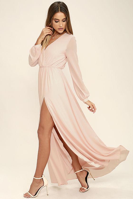 pink dress wondrous water lilies blush pink maxi dress 1 pxarvks