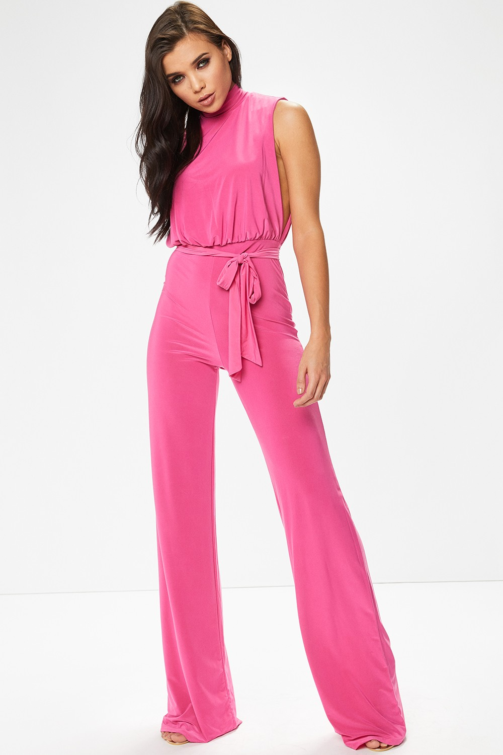 pink jumpsuit hover to zoom tjzimzp