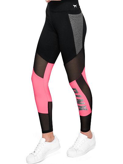 pink leggings bling cotton mesh pocket legging qvbyfgo