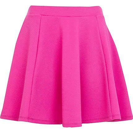 pink skirt bright pink textured skater skirt - skater skirts - skirts - women £18 iruoxsn
