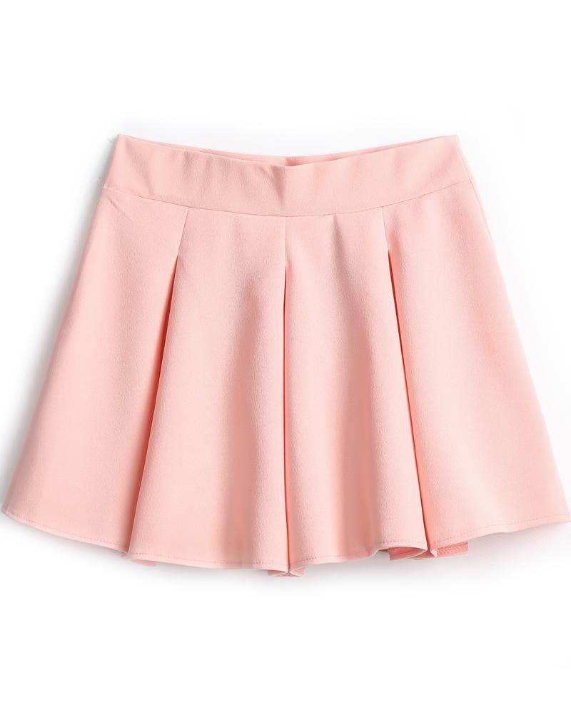 46974cc6e pink skirt pink simple design pleated skirt -shein(sheinside) tbptfab